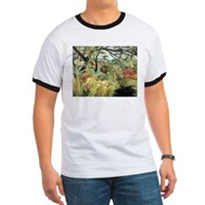 Henri Rousseau tiger in a tropical storm T