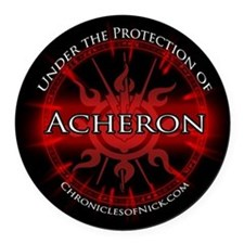 Acheron Protection Round Car Magnet