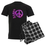 Pink Peace Men's Dark Pajamas