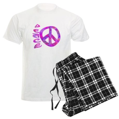 Pink Peace Men's Light Pajamas