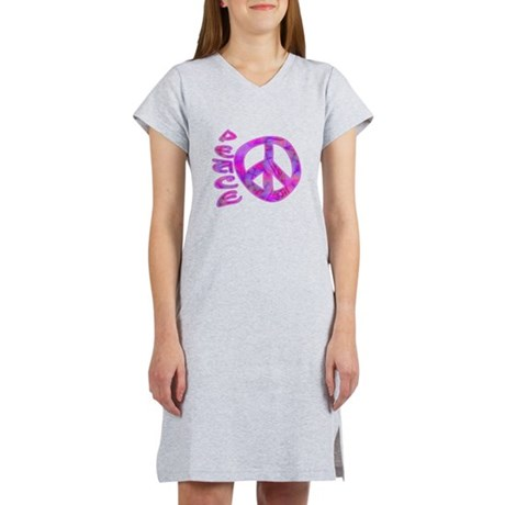 Pink Peace Women's Nightshirt