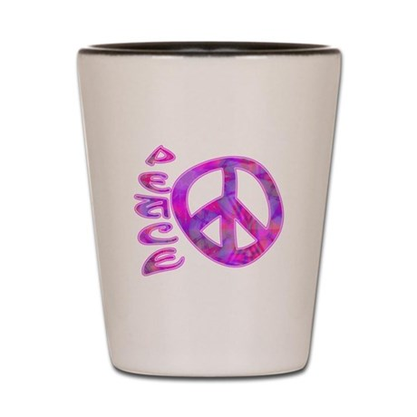Pink Peace Shot Glass