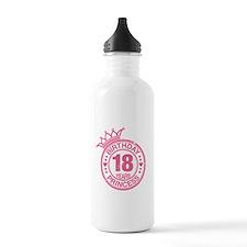 Birthday Princess 18 years Water Bottle