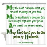 Irish Blessing &quot;May the Road&quot; Shower Curtain