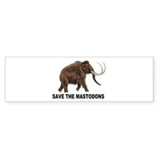 Save the mastodons Bumper Sticker