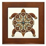 Native American Turtle 02 Framed Tile