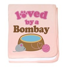 Loved By Bombay Cat baby blanket