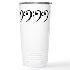 bass clef Travel Mug