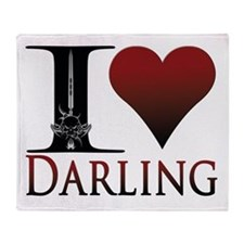 I Heart Darling Throw Blanket