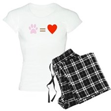Paw = heart pajamas