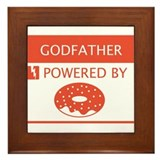 Godfather Powered by Doughnuts Framed Tile