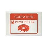 Godfather Powered by Doughnuts Rectangle Magnet