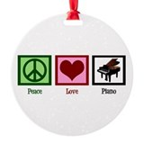 Peace Love Piano Ornament