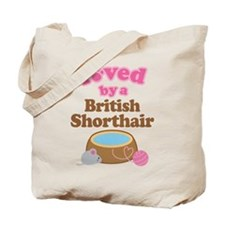 Loved By British Shorthair Cat Tote Bag
