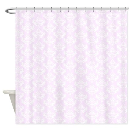 Pretty French Pink Damask Shower Curtain