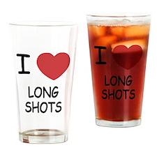 I heart long shots Drinking Glass
