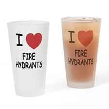 I heart fire hydrants Drinking Glass