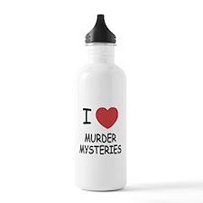 I heart murder mysteries Water Bottle