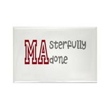 Masterfully Done Rectangle Magnet (10 pack)