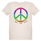 Cute Peace love soccer T-Shirt