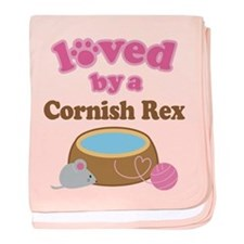 Loved By Cornish Rex Cat baby blanket