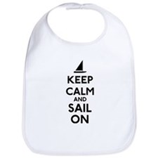 Keep Calm And Sail On Bib