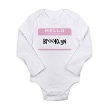 hello my name brooklyn pink custom Body Suit