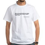 Mark Twain White T-Shirt