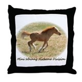 Mini Whinny Airborne Division Throw Pillow