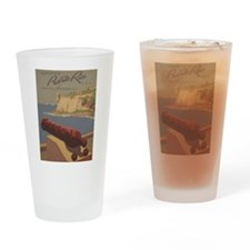 Discover Puerto Rico Travel poster Drinking Glass