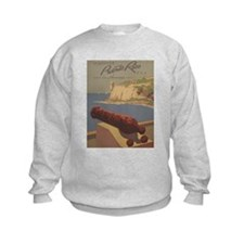 Discover Puerto Rico Travel poster Sweatshirt