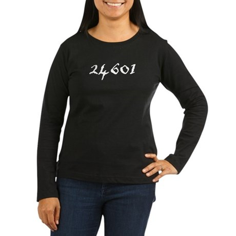 24601 Women's Long Sleeve Dark T-Shirt