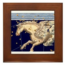 Vintage Pegasus Flying Horse Mythology Stars Gods