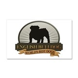English Bulldog Car Magnet 20 x 12