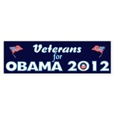 Veterans For Obama 2012 Car Sticker