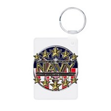 USN Navy Honor RWB Keychains