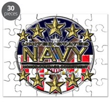 USN Navy Honor RWB Puzzle
