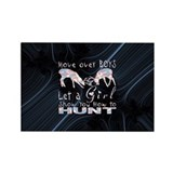 GIRL DEER HUNTER Rectangle Magnet