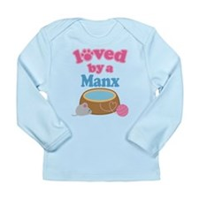 Loved By A Manx Long Sleeve Infant T-Shirt