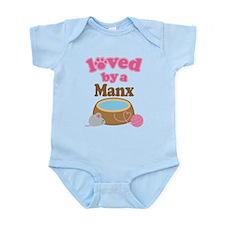 Loved By Manx Cat Infant Bodysuit