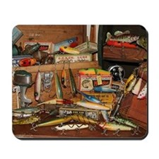 Mousepad - Vintage Fishing Lures