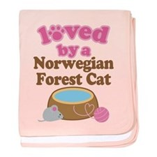 Loved By Norwegian Forest Cat Cat baby blanket