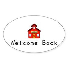 Welcome Back Oval Decal