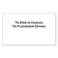 Divine Flounder Rectangle Decal