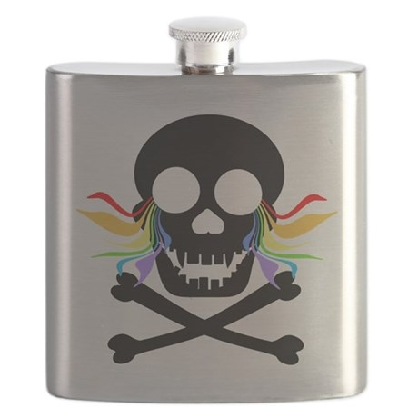 Black Skull Rainbow Tears Flask