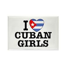 I Love Cuban Girls Rectangle Magnet