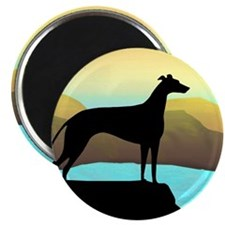 "greyhound by the sea 2.25"" Magnet (10 pack)"