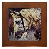 Giovanni Boldini Head Of A Horse Framed Tile