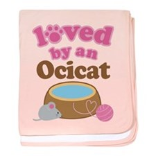Loved By Ocicat Cat baby blanket