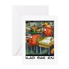 Salad Bar Exam Greeting Card